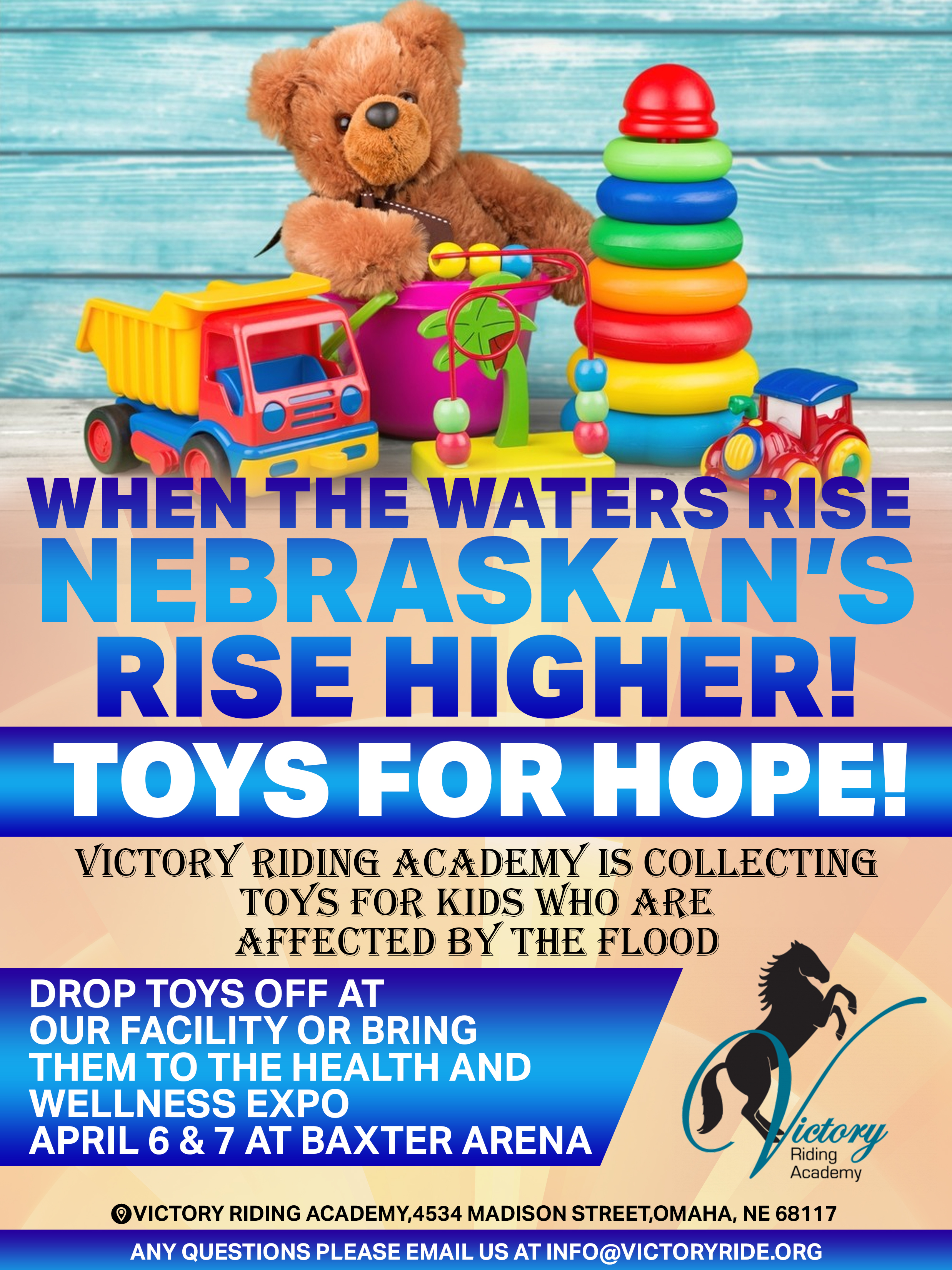 Toy Drive for kids affected by the flood