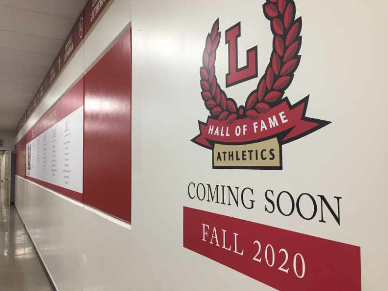 Wall Graphics for High School Athletics Department in Orange CA