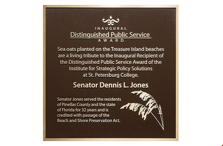 M7535 -   Precision Machined Bronze Distinguished Public Service Award Plaque