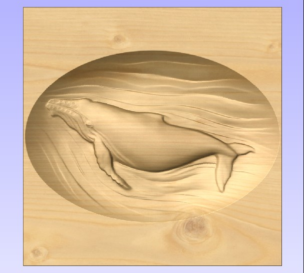 M3969 - Carved Maple Whale