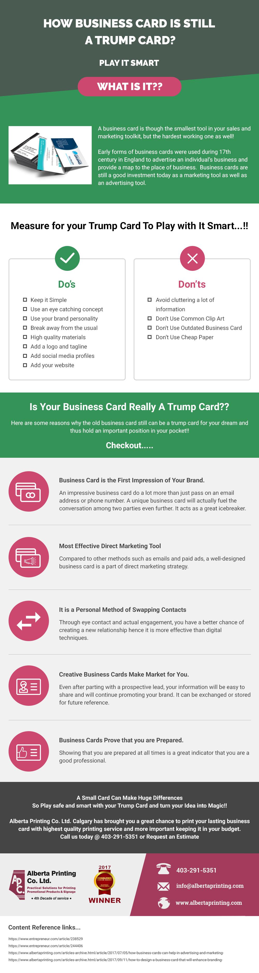 How Business Card is Still a Trump Card?