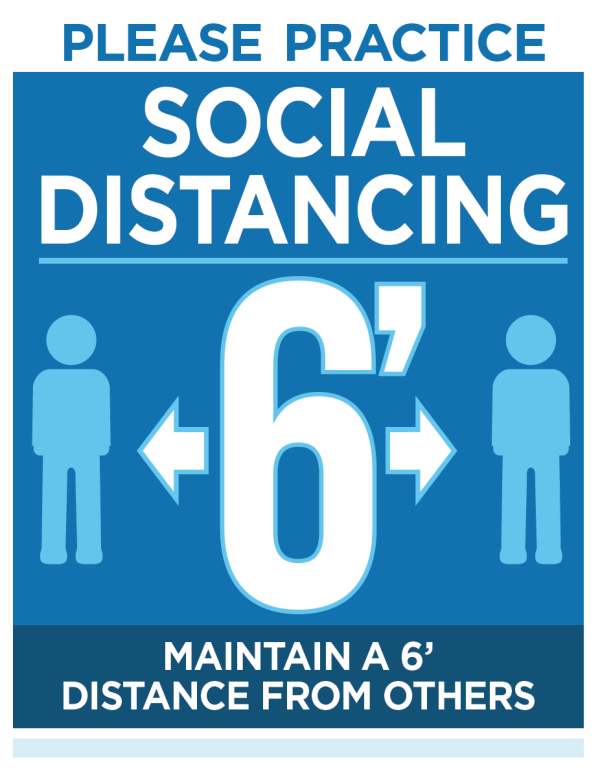 Social Distancing Signs at Schools - Sign Partners Boca Raton