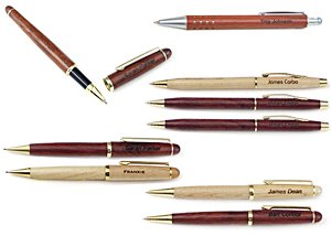 Wooden Pens and Pencils