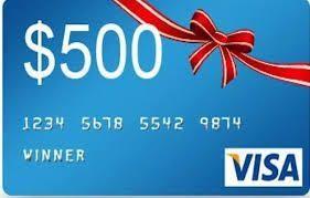 $ 500 Visa Gift Card