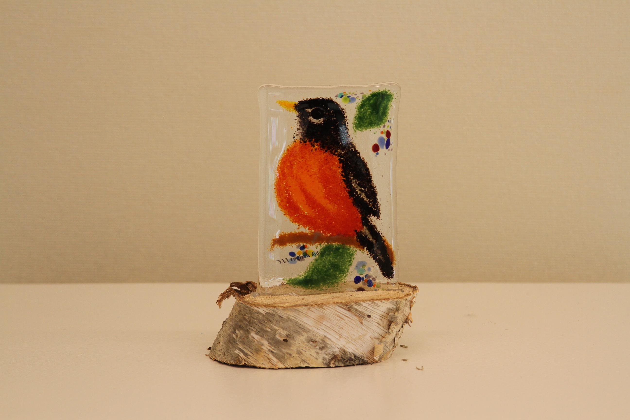 Robin - Birds on Stumps