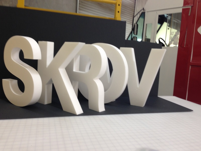 Foam Letters Ready for Paint