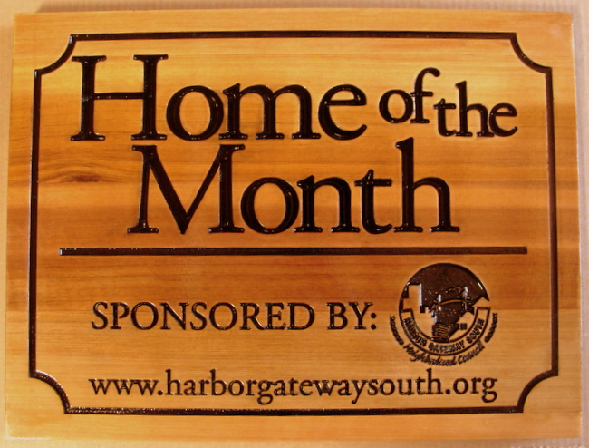 KA20969- Natural Wood Home-of-the-Month Yard Sign