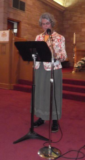 Giving the sermon