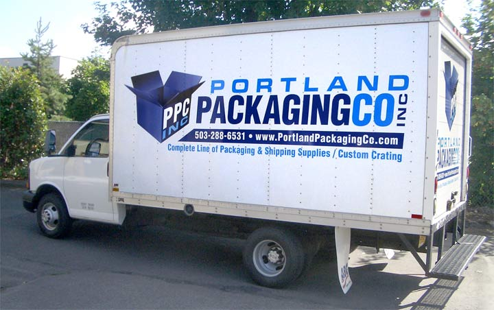 Portland Packaging Box Truck Graphics