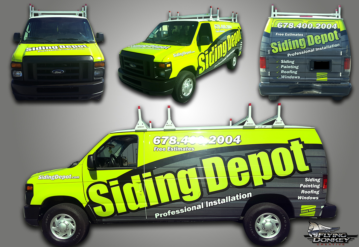 Siding Depot Van Wrap