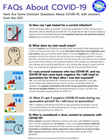 FAQs About COVID-19 (English)