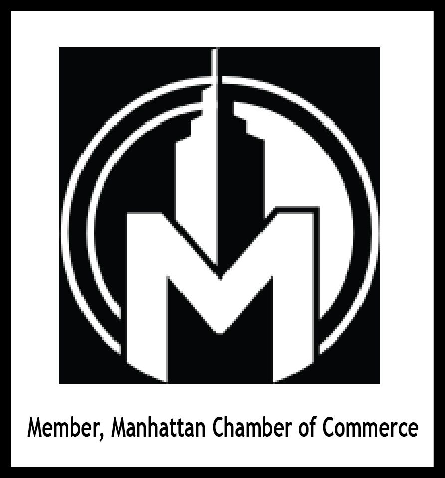 Z35122 - Carved  2.5-D Wall Plaque of the Logo for  the Manhattan Chamber of Commerce