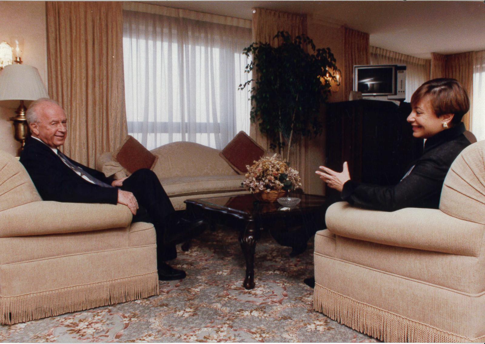 Michele Rosen with Israeli Prime Minister Yitzhak Rabin.