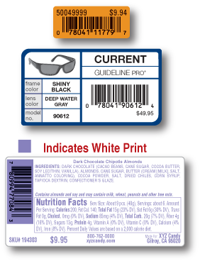UPC labels for SKU's
