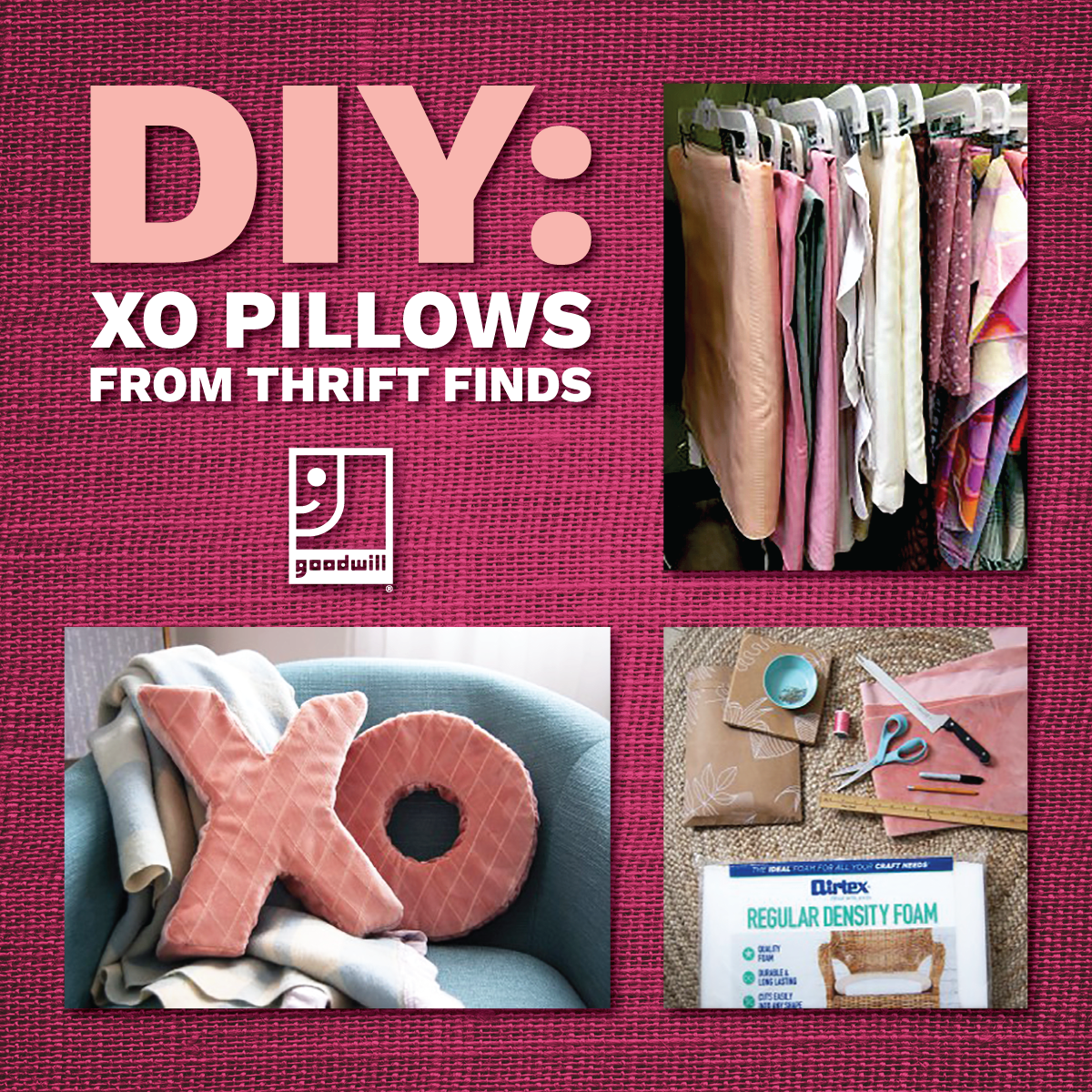 Treat your sweet with DIY X and O-shaped pillows!