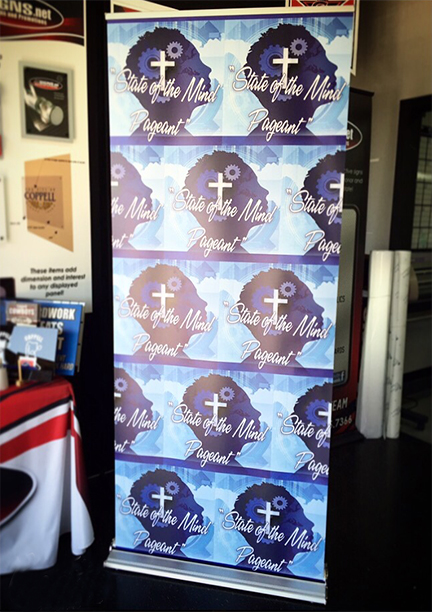 8 ft. Silver Retractable Banner Stand