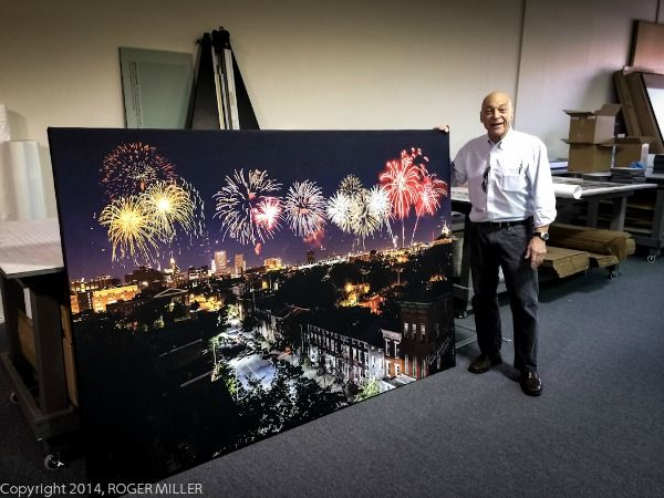 Photograph on canvas, Roger Miller Photography [Baltimore, MD]