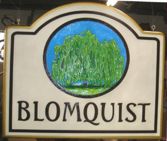M2740 - Farm Sign with Large Willow Tree (Gallery 23)