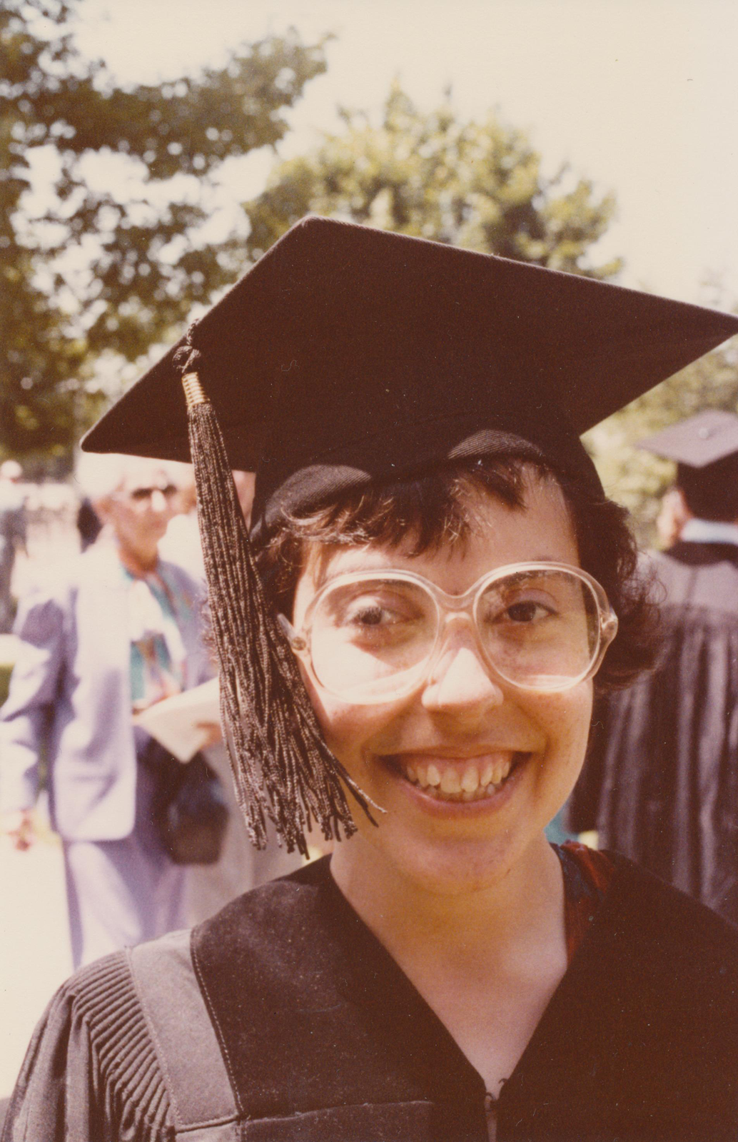 Janet at her graduation from Harvard Law School in 1983.