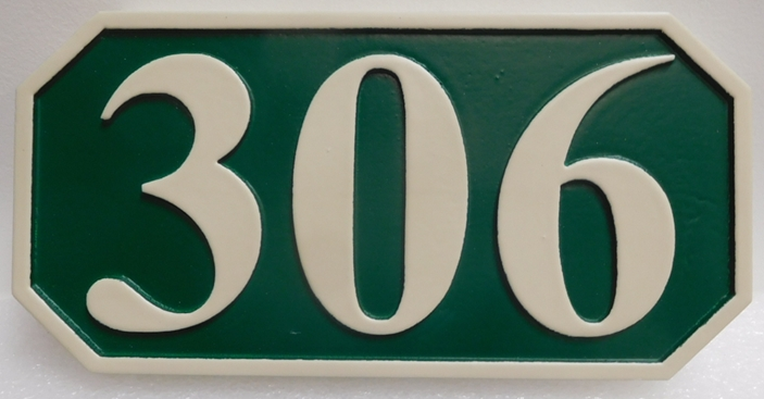 KA20918 -  Carved High-Density-Urethane (HDU) Street Number Address Sign, 2.5-D