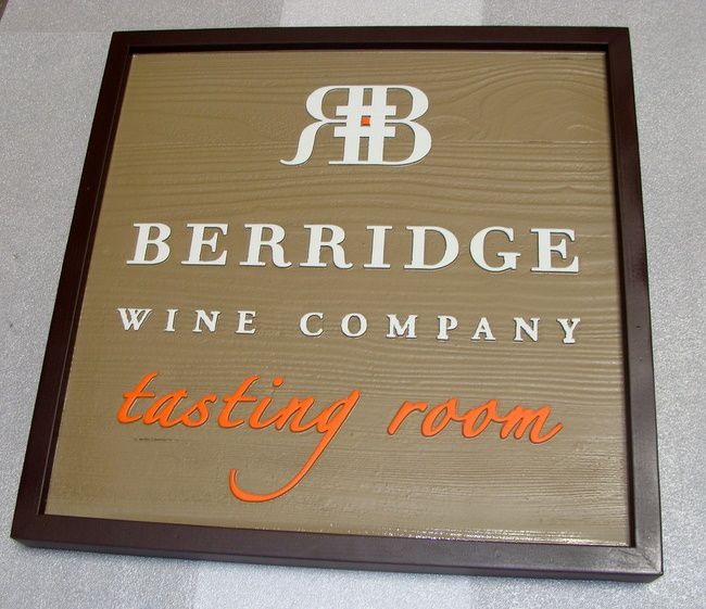R27055 -  Winery Tasting Room Carved Wood Sign