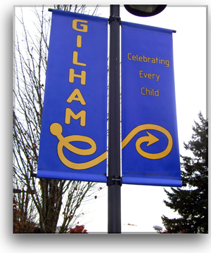 Double Pole Banner Brackets  All Size Banners All Size Light Poles