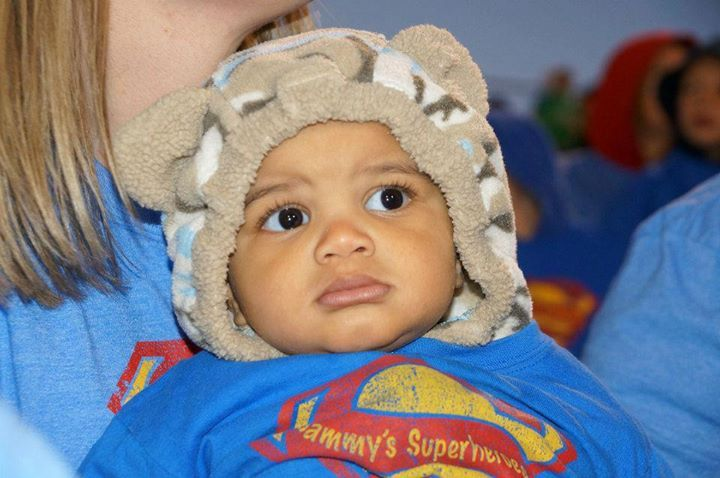 Look at this adorable superhero disguised as a bear– Cousin Brenny