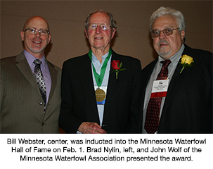 Delta's Webster Inducted into Minnesota Waterfowl Hall of Fame