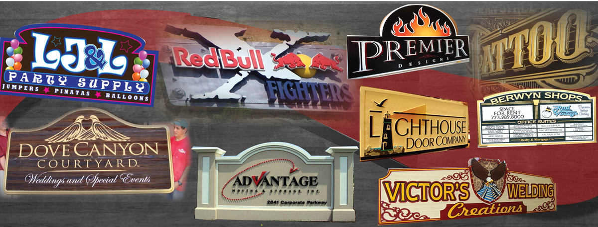 Dimensional Wood, High-Density-Urethane ,Bronze, Brass , Aluminum,  and EPS Monument and Entrance Signs for Commercial Businesses and Stores
