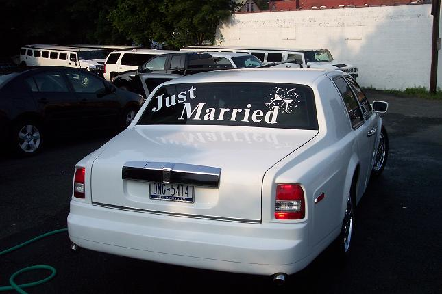 Rolls-Royce Phantom JUST MARRIED