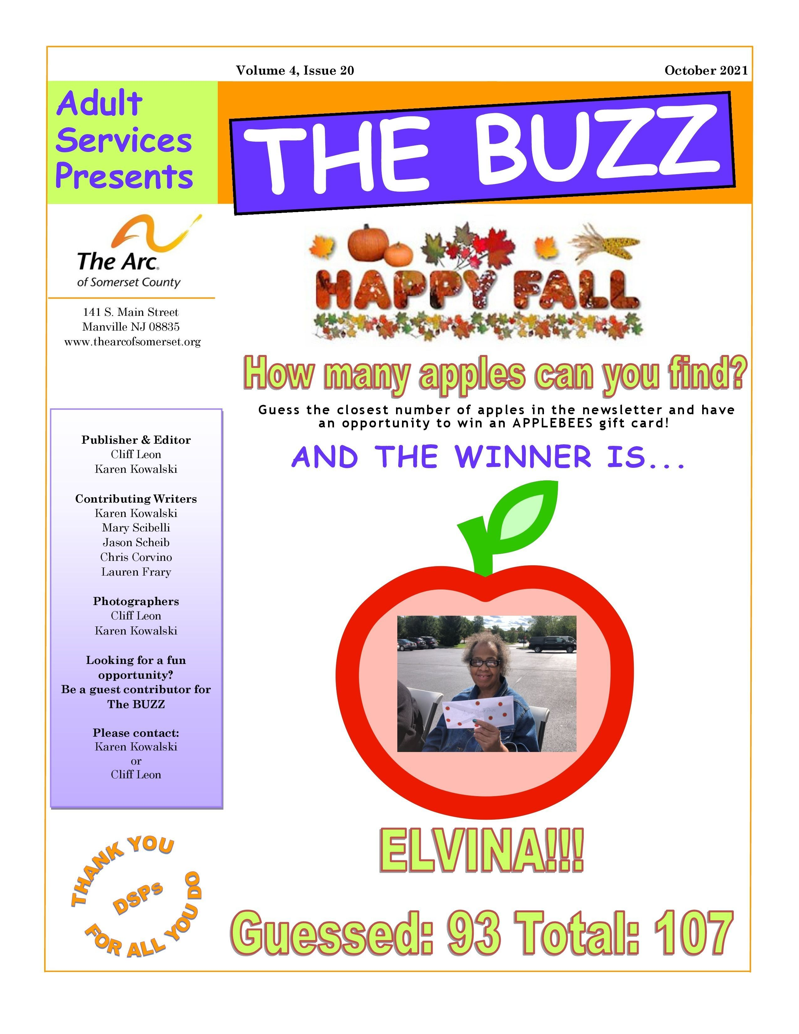 Check Out This Week's BUZZ  Newsletter - October 1 2021