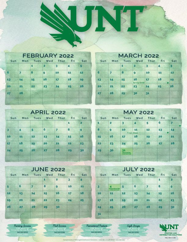 2021 - 2022 Academic Calendar