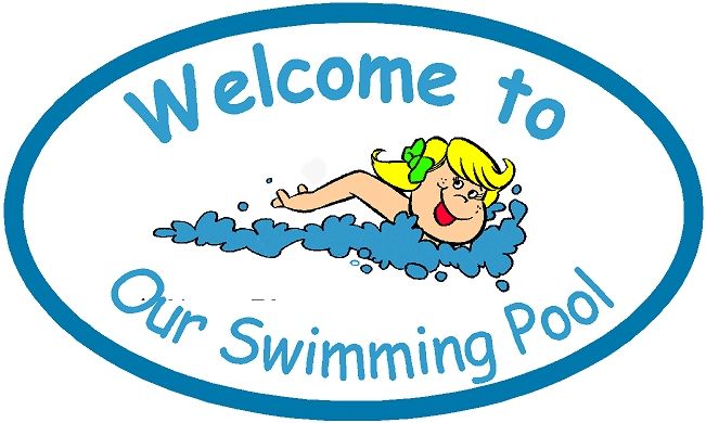 GB16755 - Design of an HDU Welcome Sign for a Swimming Pool Showing a Little Girl Swimming