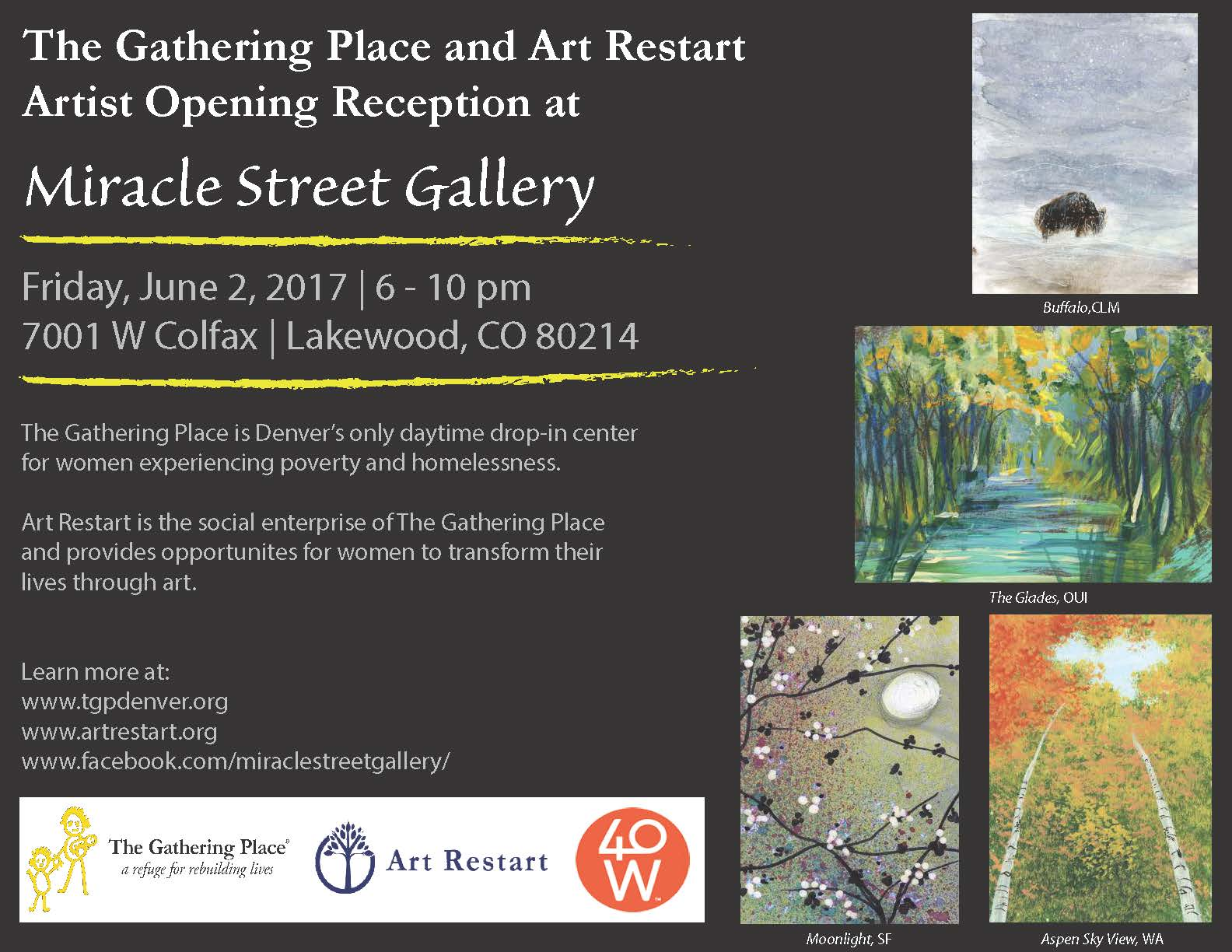 Artist Opening Reception at Miracle Street Gallery, June 2