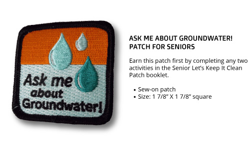 "Senior ""Ask Me About Groundwater"" Patch"