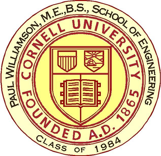 Y34329 - Carved 2.5- D (Outline) HDU Great Seal of Cornell University