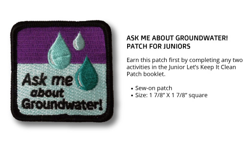 "Junior ""Ask Me About Groundwater"" Patch"
