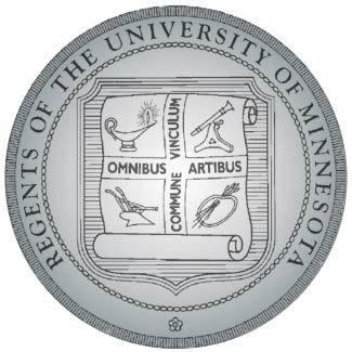 RP-1580 - Carved Wall Plaque of  the Seal of the University of Minnesota, Painted Silver Gray