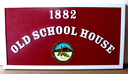 F15442 - Old School House Wooden Sign