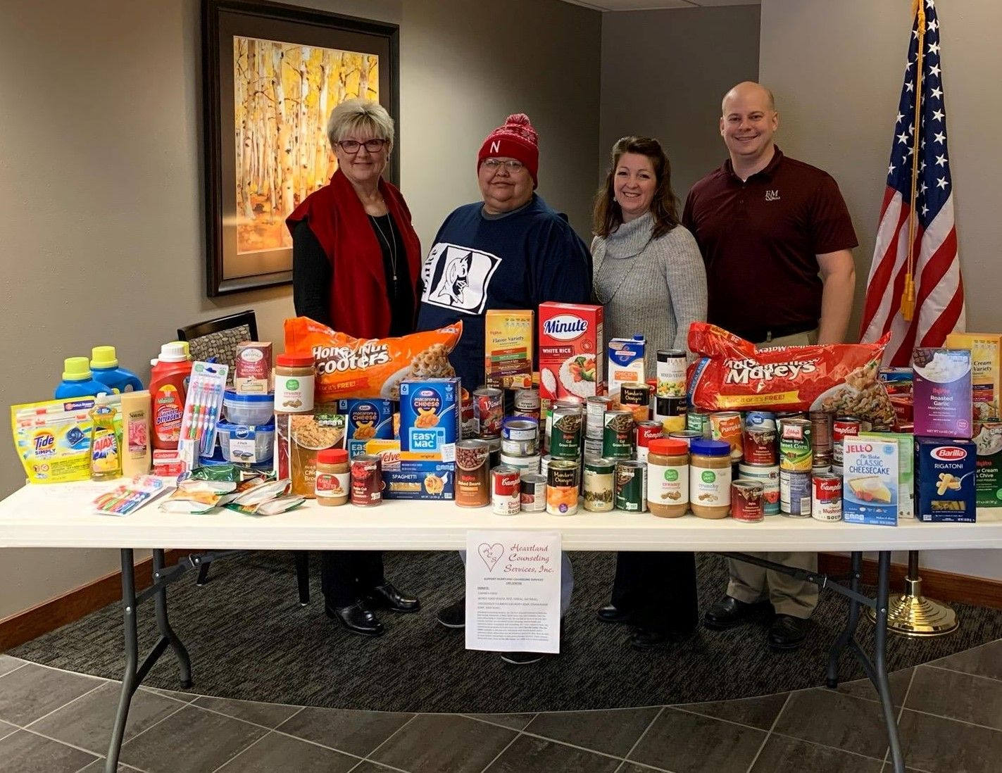 F&M Bank Food Drive Supports Heartland's Life Center