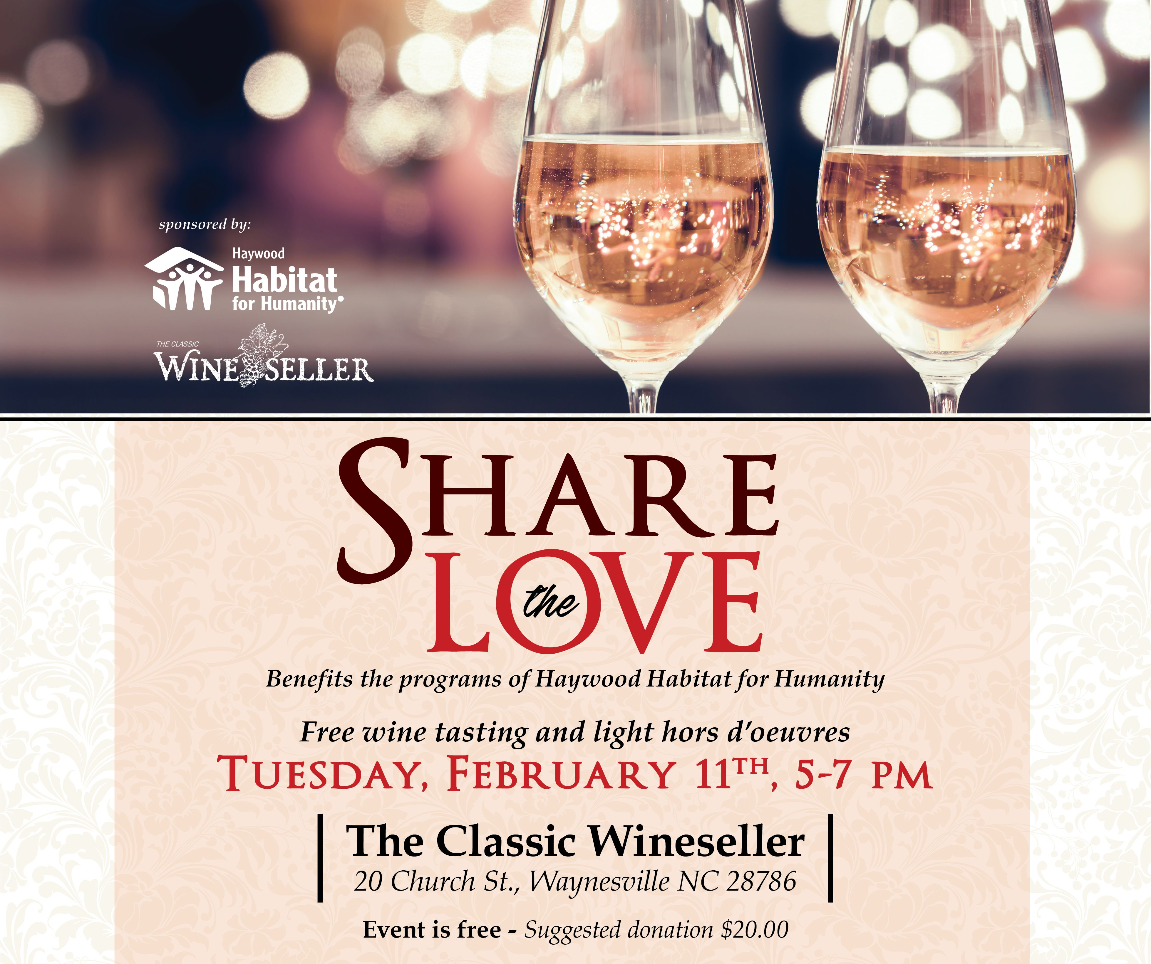 Share the Love Winetasting