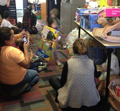 Hill & Dale Preschoolers Deliver Gifts