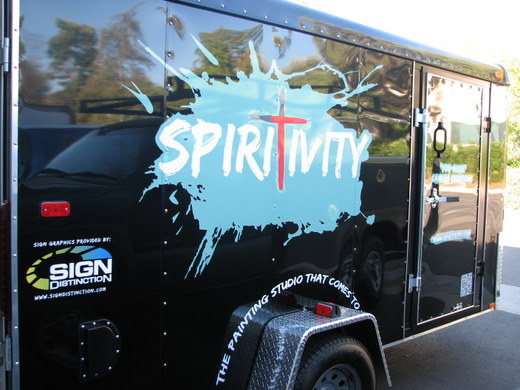 Vehicle graphics applied to trailer