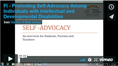 Promoting Self-Advocacy Among Individuals with Intellectual and Developmental Disabilities