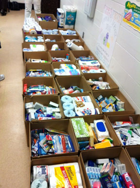 WJ Christian students help homeless with toiletry drive
