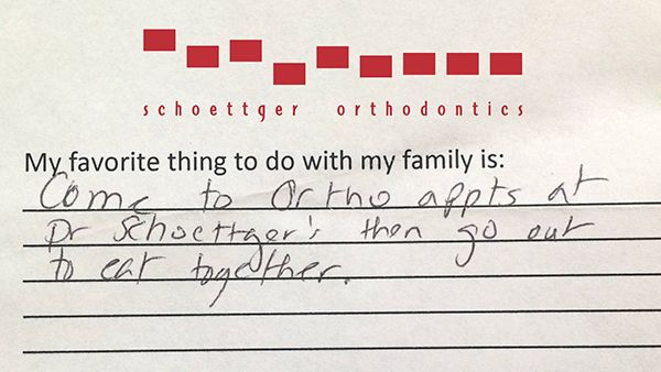 My favorite thing to do with family is...