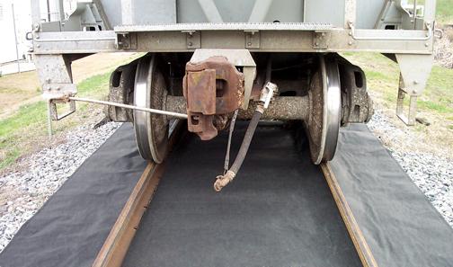 A01EB094 Gray Universal RailRoad Roll - Inside Rails