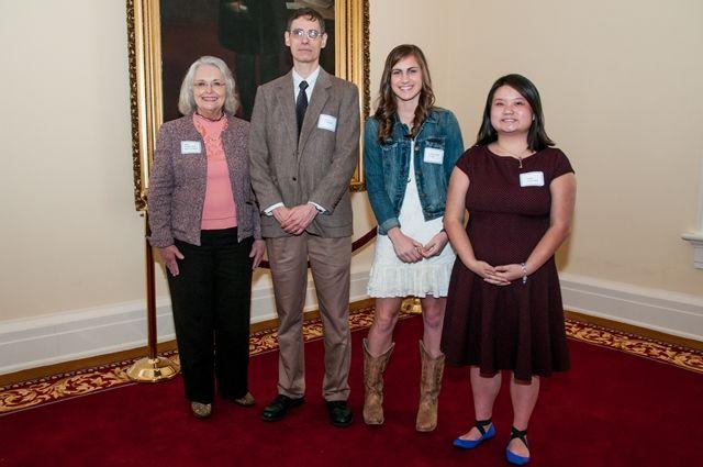 Rep. Mary Sue McClurkin with Briarwood Christian School teacher, students