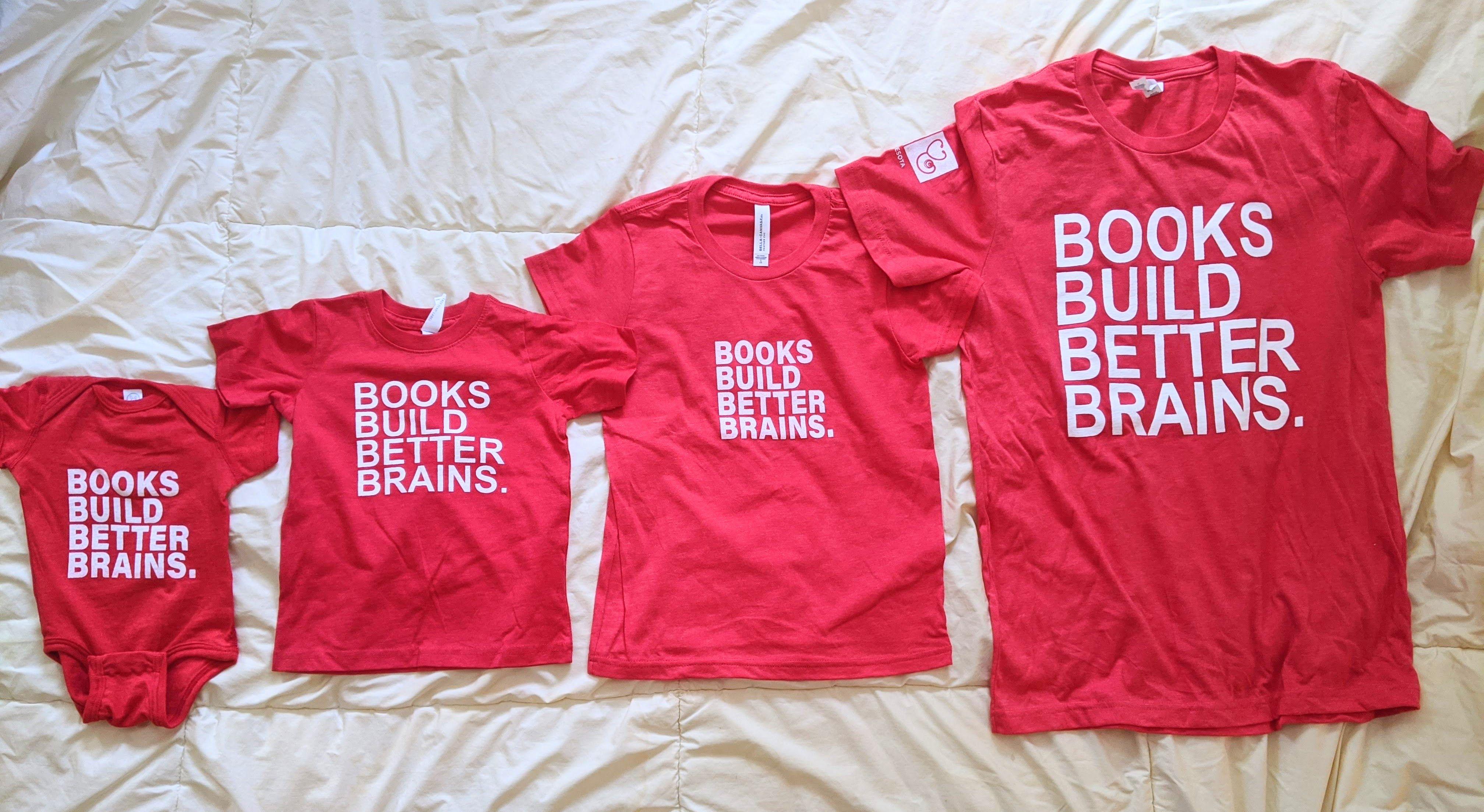 Books Build Better Brains Shirts & Onesies