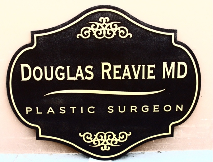 B11013 - Sandblasted Plastic Surgeon Sign